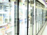 Commercial refrigerators with CVD coatings that eliminate condensation and frost to increase efficiency