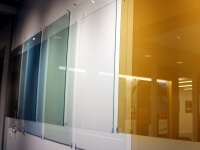 A Stewart Engineers variety of glass coatings including colored, anti-reflective, and ultra-clear glass